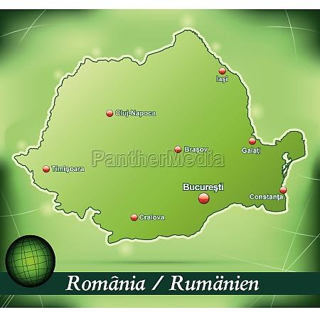 inselkarte von rumaenien abstrakter hintergrund in