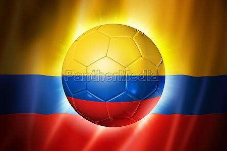 fußball, fußball, ball, mit, kolumbien-flagge - 10624883