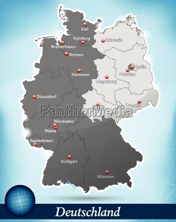 karte des geteilten deutschland