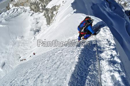 abstieg vom island peak in nepal