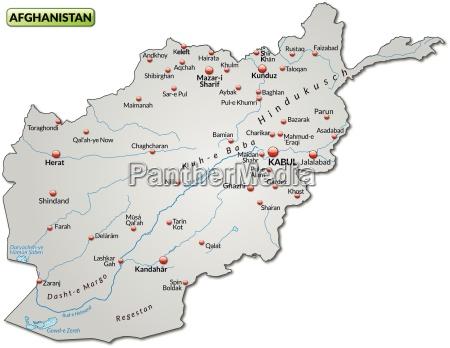 karte von afghanistan als UEbersichtskarte in