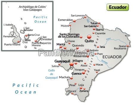 inselkarte von ecuador als UEbersichtskarte in