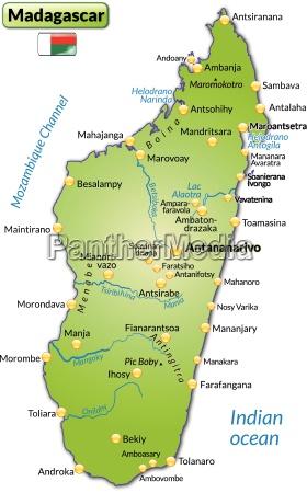 inselkarte von madagaskar als UEbersichtskarte in