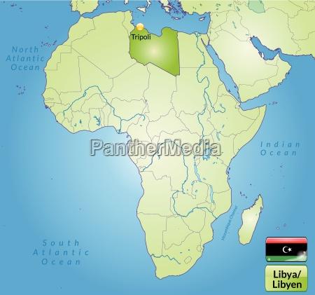 umgebungskarte von libyen mit hauptstaedten in