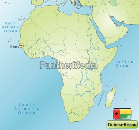 umgebungskarte von guinea bissau mit hauptstaedten