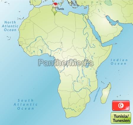 umgebungskarte von tunesien mit hauptstaedten in