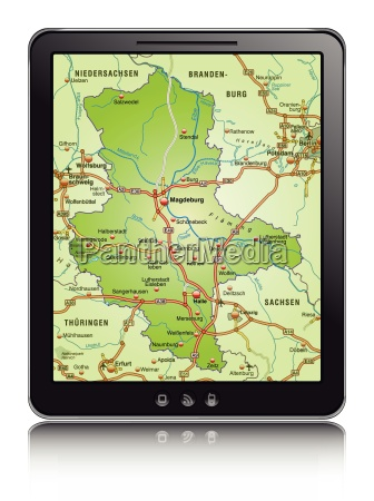 map of saxony anhalt as a