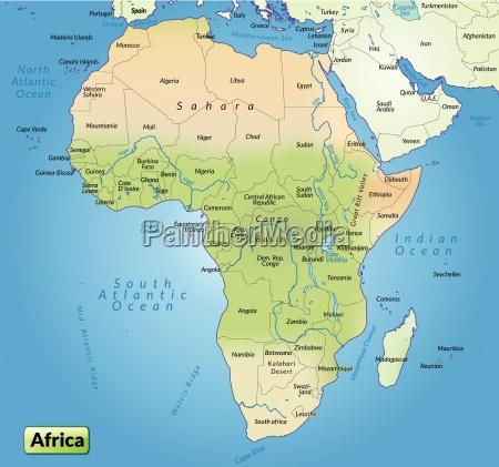 karte von afrika als UEbersichtskarte