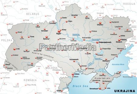 karte von ukraine als UEbersichtskarte in