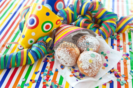 fresh donut in colorful tuete