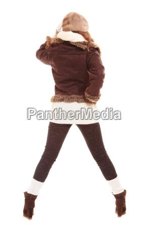 winter fashion full length back of