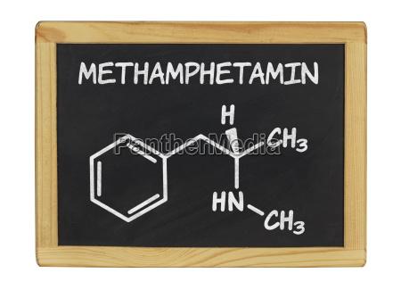 chemische strukturformel von methamphetamin