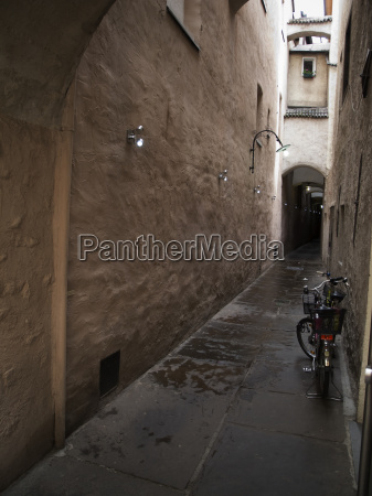 narrow street in merano