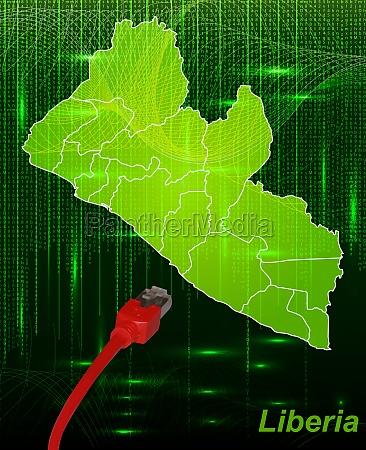 karte von liberia mit grenzen im