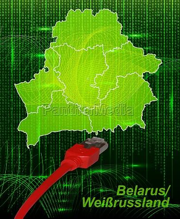 karte von weissrussland mit grenzen im
