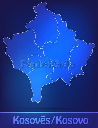 karte von kosovo mit grenzen als