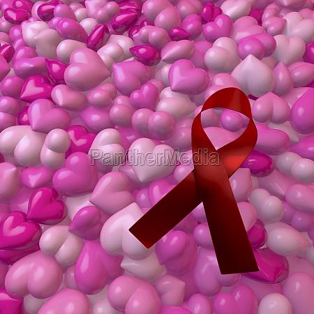 pool heap of pink shiny hearts