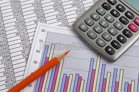 finanzen mit kalkulation chart zahlentabelle rotstift