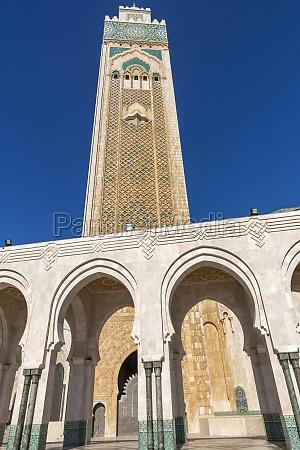 moschee hassan ii in casablanca marokko