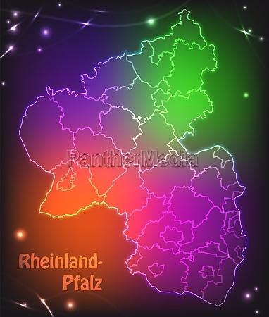 karte von rheinland pfalz mit grenzen