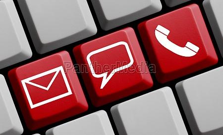 online kontakt mail persoenlich oder per