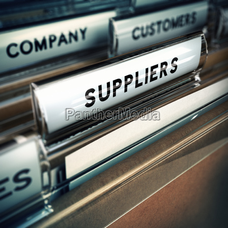 suppliers management concept