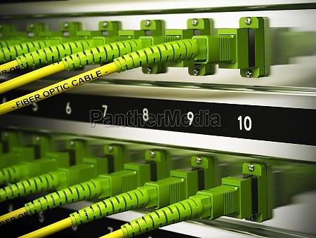 netzwerkinfrastruktur faseroptik verbindungen