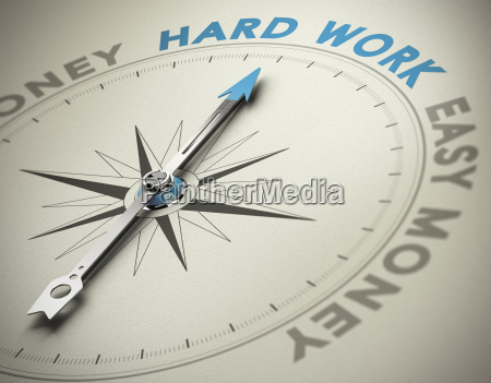 personal values hard work concept