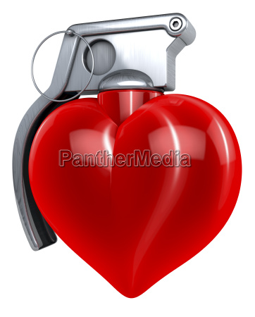 red shiny reflecting heart in shape