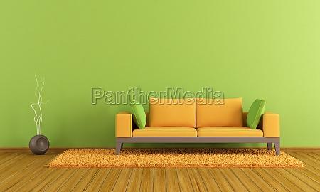 gruene und orange lounge