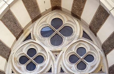 runde dekorative fenster