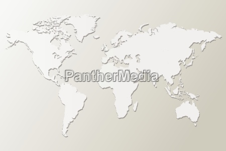 white map vector illustration