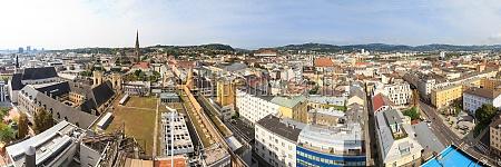 linz cityscape panorama austria