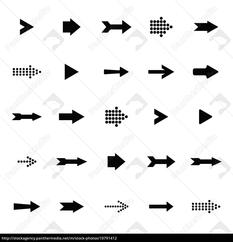 pfeil-zeichen-symbol vektor-set - Lizenzfreies Foto - #10791412 ...