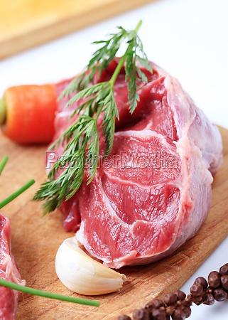 raw shin rindfleisch