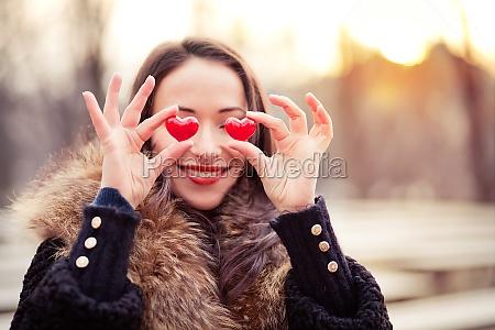 valentines day girl in love