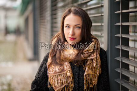 business woman wearing scarf