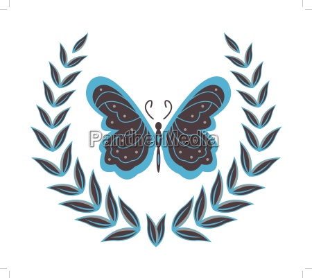 wreaths butterfly vector