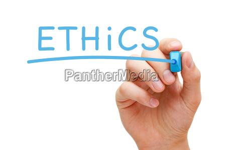ethik blau marker