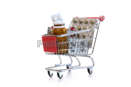 shopping cart with pills
