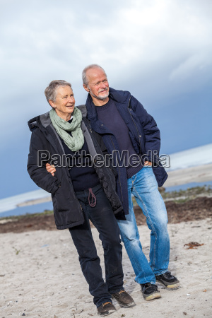 walking elderly adult elderly couple on