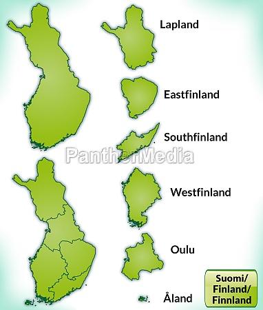 karte von finnland mit grenzen in