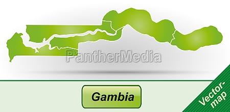 karte von gambia mit grenzen in
