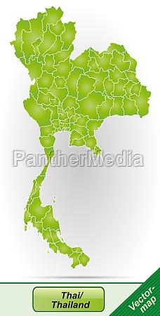 karte von thailand mit grenzen in