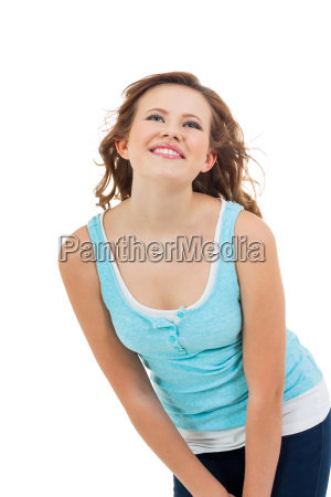 laughing young happy woman girl with