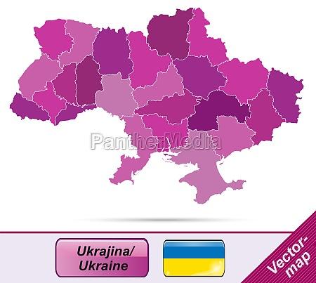 karte von ukraine mit grenzen in