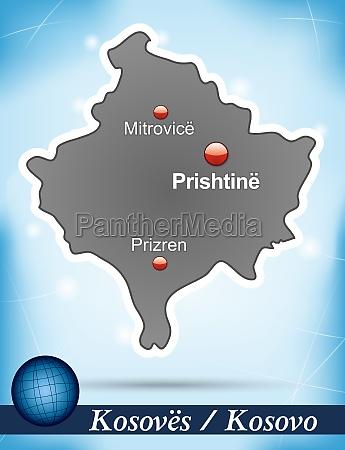 karte von kosovo abstrakter hintergrund in