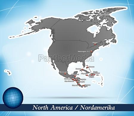 karte von nordamerika abstrakter hintergrund in