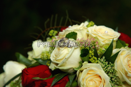 ring flower rose plant wedding marriage