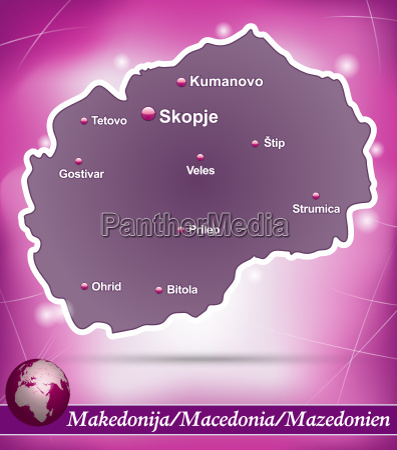 karte von mazedonien abstrakter hintergrund in